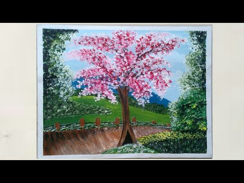 Beautiful Landscape Painting for Beginners – step by step