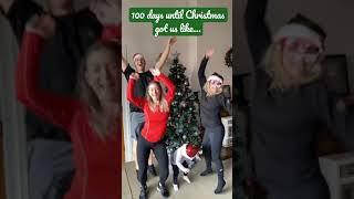 100 Days until Christmas got us like… #shorts #christmascountdown