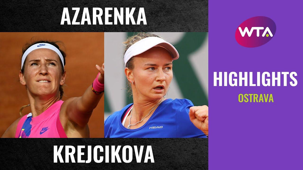 Victoria Azarenka vs. Barbora Krejcikova | 2020 Ostrava Second Round | WTA Highlights