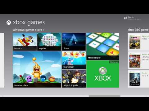 Xbox 360 Games app for Windows 8