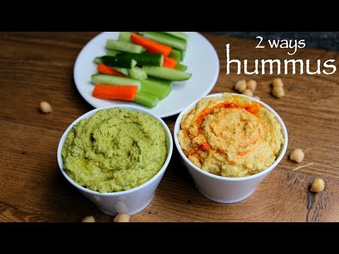 hummus recipe | hummus dip recipe | 2 ways easy hummus recipe