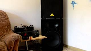 Behringer VP1520 speakers with EP4000 ...nikon D5100 camcorder
