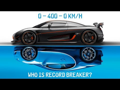 Bugatti Chiron Vs Koenigsegg Agera RS ► 0-400-0 Km/h Battle