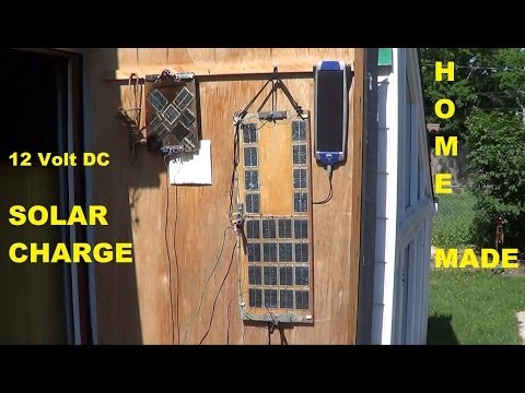 Homemade solar panels USING Solar YARD LIGHTS whats in your garage?