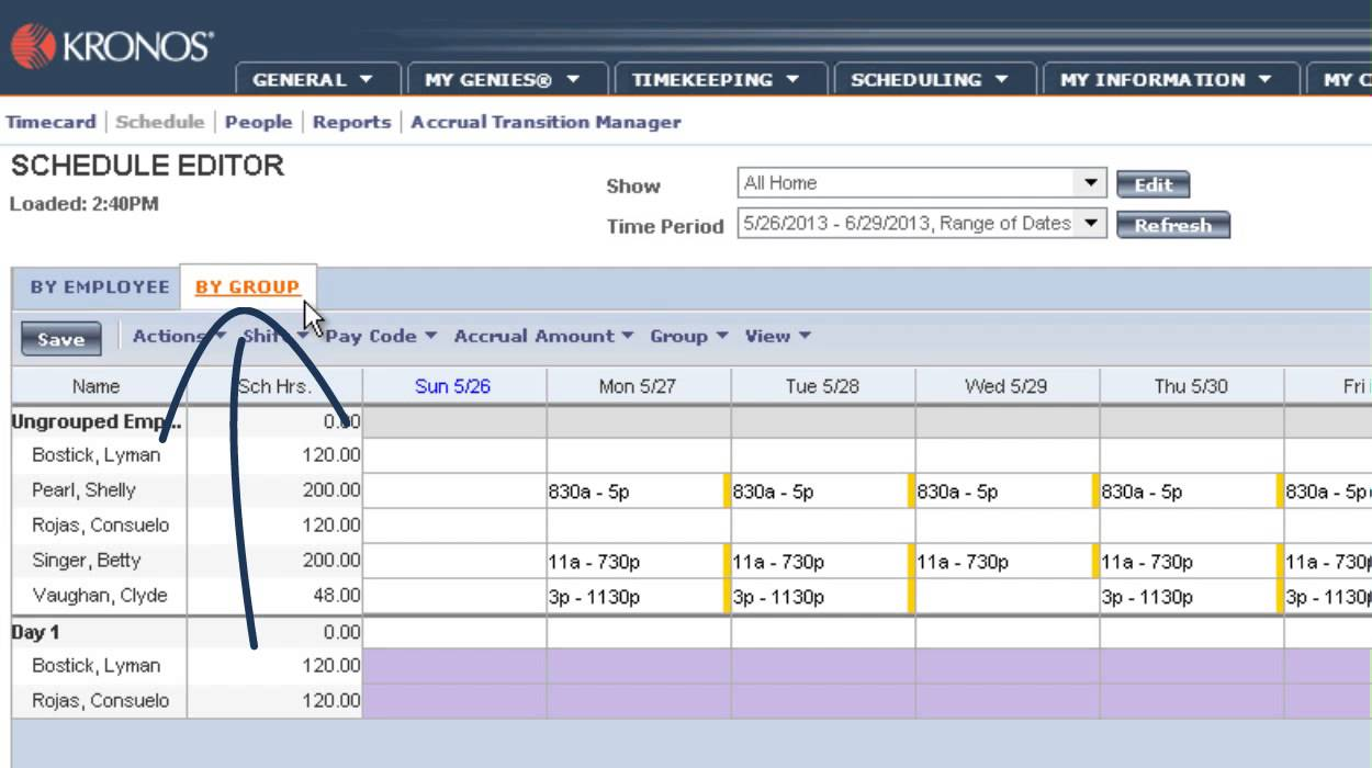 Workforce Timekeeper Schedule Editor Overview Youtube