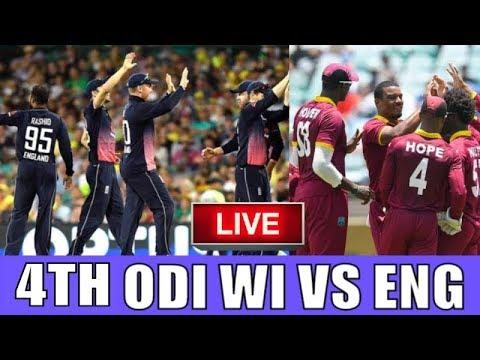 Live Score: West Indies vs England 4TH ODI 2019 I  live Streaming  I  WI Vs ENG Live Match
