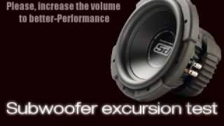 Extreme Bass Test [Subwoofer excursion test] [Sound Only]