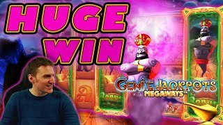 HUGE WIN on Genie Jackpots Megaways Slot - £4 Bet
