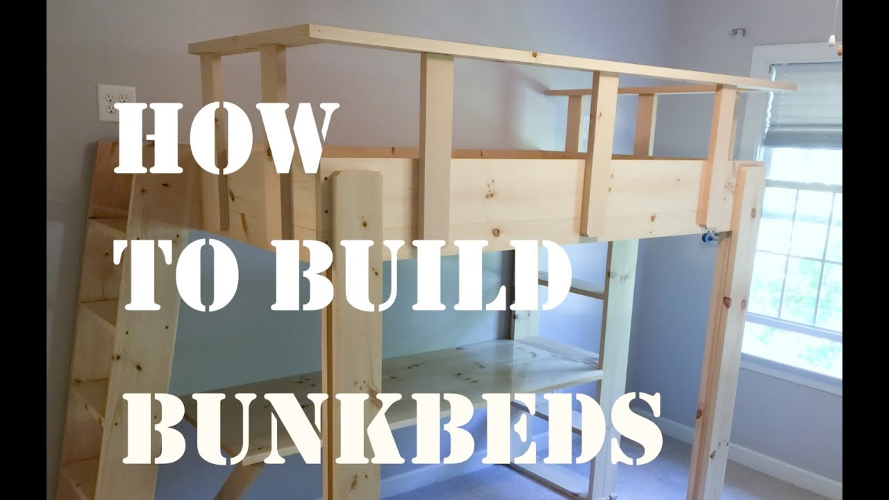 Myfixituplife S Diy Woodworking Project How To Build Bunk Beds For A Kids Room
