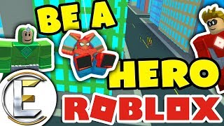 BE A HERO in ROBLOX ( Heroes of Robloxia ) STOP A BIG BANK ROBBERY!