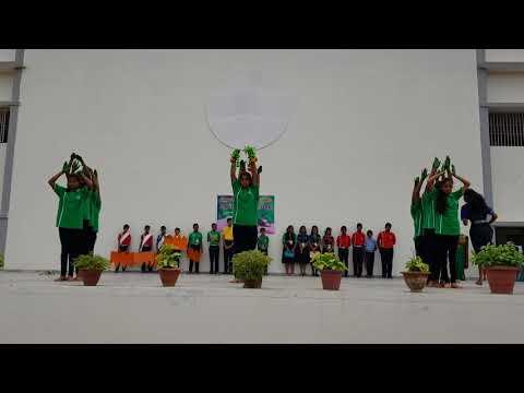 Dance of Divine Providence school children at padri thana on Tree plantation day