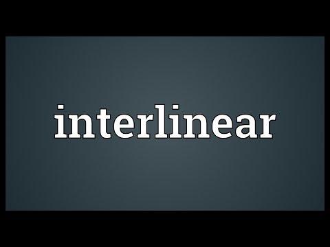 Header of interlinear
