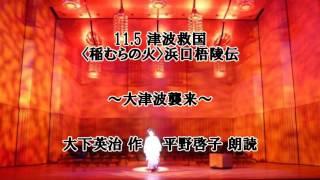 11.5 津波救国 〈稲むらの火〉浜口梧陵伝 大下英治作 朗読:平野啓子(...