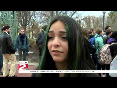 Hamilton College students stage solidarity walk protesting racism