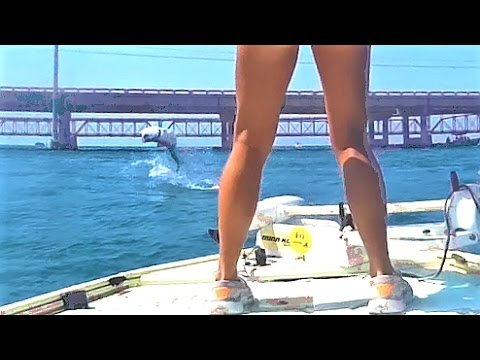 Florida Keys Inshore Tarpon Fishing Slayfest At The Bridge GoPro Video
