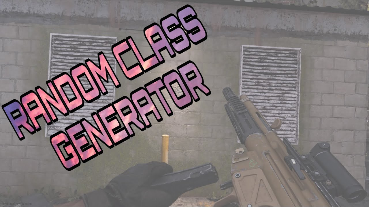 Random Class Generator Call Of Duty Modern Warfare Youtube