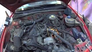 видео Ремонт Ауди 80 : Проверка гидравлического привода сцепления Audi 80