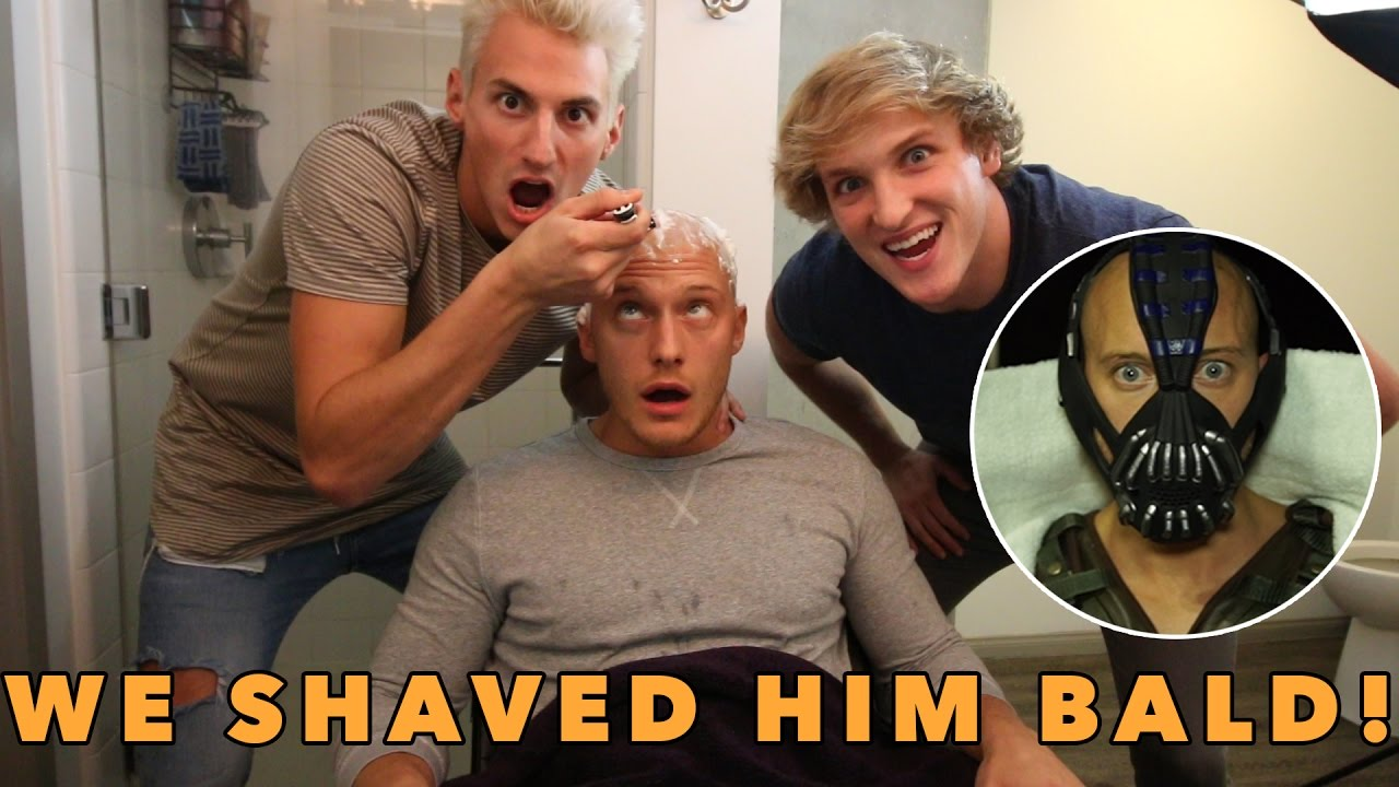 shaved his head for his epic halloween costume youtube