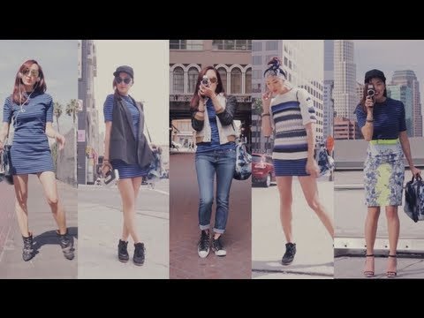 Street Style Fashion 1 Dress 5 Ways | Transformations