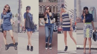 Street Style Fashion- 1 Dress 5 Ways