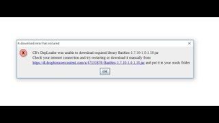 Что делать, если Не работает Thaumcraft - DepLoader was unable to download Baubles_1.7.10_1.0.1.10