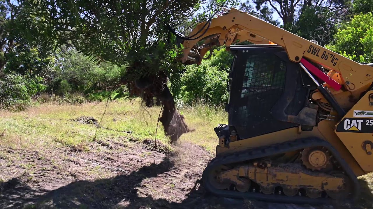 Himac Attachments - Tree Puller in Action
