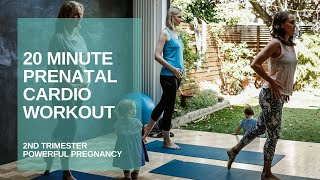 20 Minute Prenatal Cardio Workout | 2nd Trimester | Powerful Pregnancy