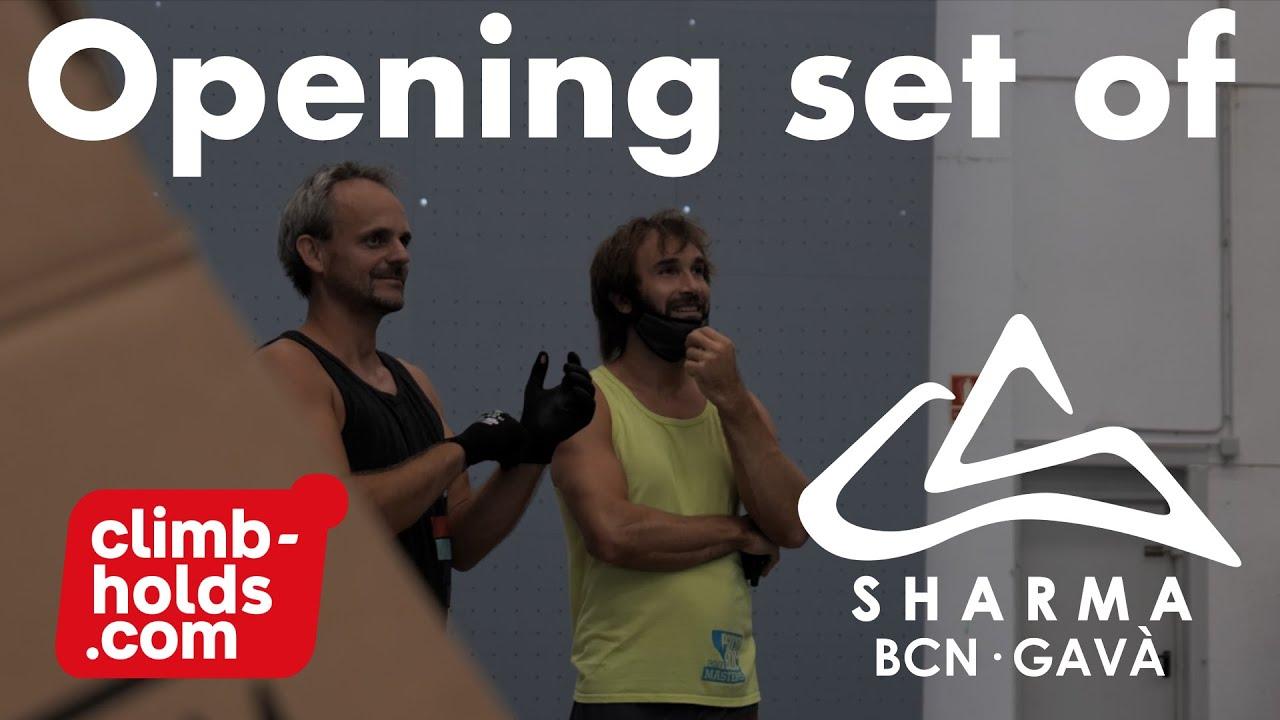 Download The opening set for Chris Sharma Climbing Barcelona Gava by climbholds.com