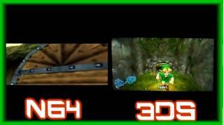 Legend Of Zelda Ocarina Of Time Comparison N64 Vs 3ds