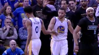 2016-17 Dubs Top Moments: Ball Movement Results in 4-Point Play in Memphis