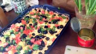 Easy 7 Layer Dip!!