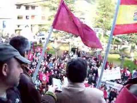 Manifestación Cistierna 7 abril 2007