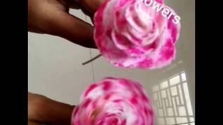 Decorative Rose flowers using waste cloth in home