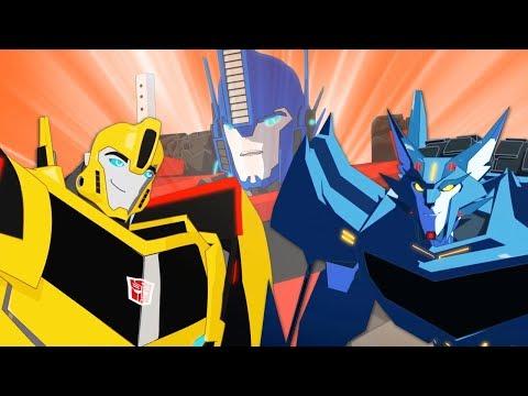 Сборник мультфильмов про трансформеров. Роботы под прикрытием. Начало