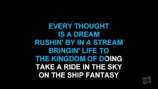 Fantasy in the style of Earth, Wind & Fire karaoke video version with lyrics