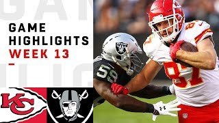 Chiefs vs. Raiders Week 13 Highlights | NFL 2018