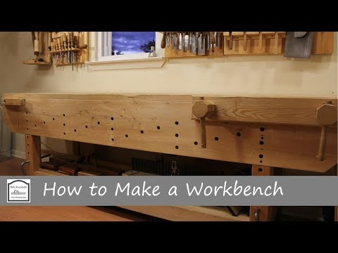 How to Make a Workbench with Hand Tools - Part 1 (Building the Base)