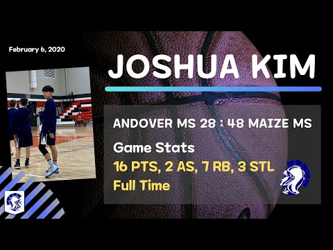 Joshua Kim (??? at Andover Middle School) Highlights vs Maize Middle School