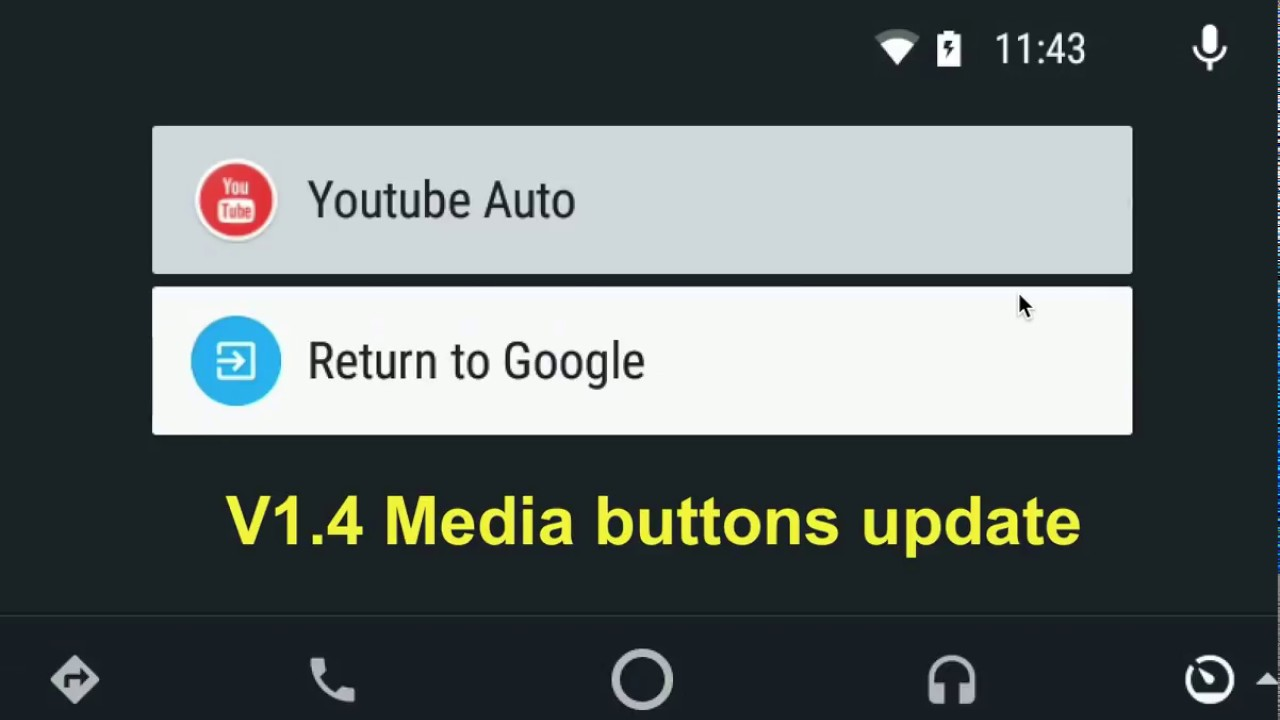 v1 4 media buttons update for Youtube Auto by Kiran Kumar