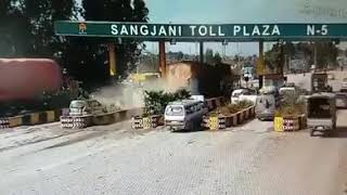 accident sangjani toll plaza