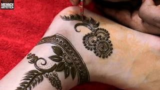 Most Easiest & Stylish Mehndi Design For Ankle | Best Girlish Mehendi Tattoo Feet by MehndiArtistica