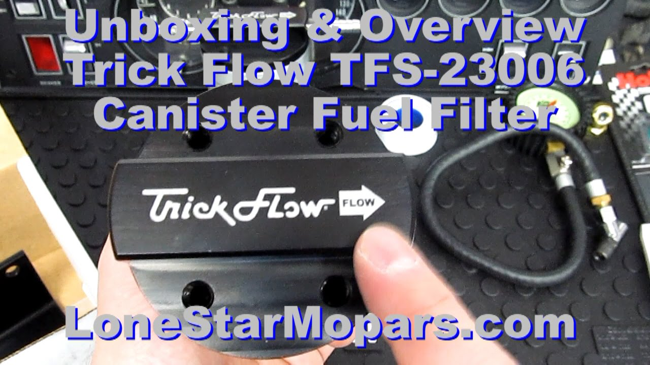 trick flow tfs 23006 billet canister fuel filter unboxing and overview [ 1280 x 720 Pixel ]