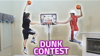 GREATEST HOUSE MINI NBA BASKETBALL DUNK CONTEST EVER!! (INSANE)