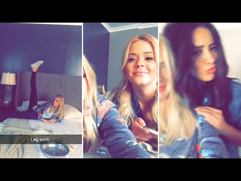 Ashley Benson  August 25th 2015  FULL SNAPCHAT STORY featuring Sasha Pieterse & Shay Mitchell