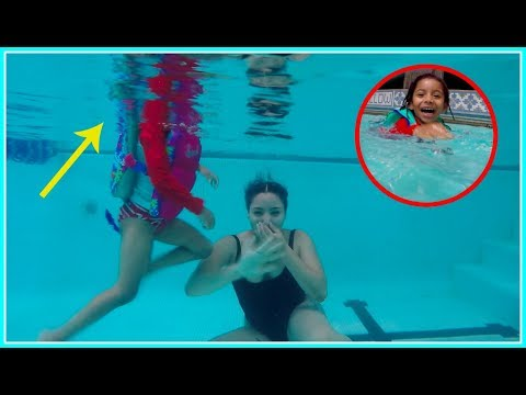Toddler Reaction To Going Under Water!!...