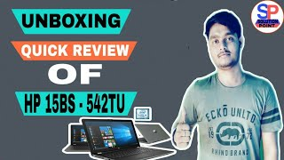 unboxing and review of hp laptop 15bs-542TU ||by Gulshan technical