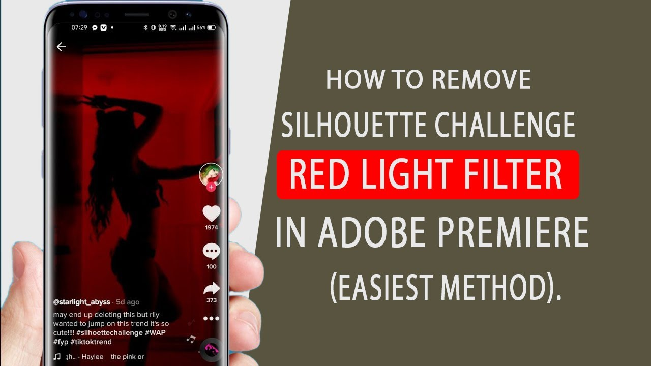 People are removing the red filter on Silhouette