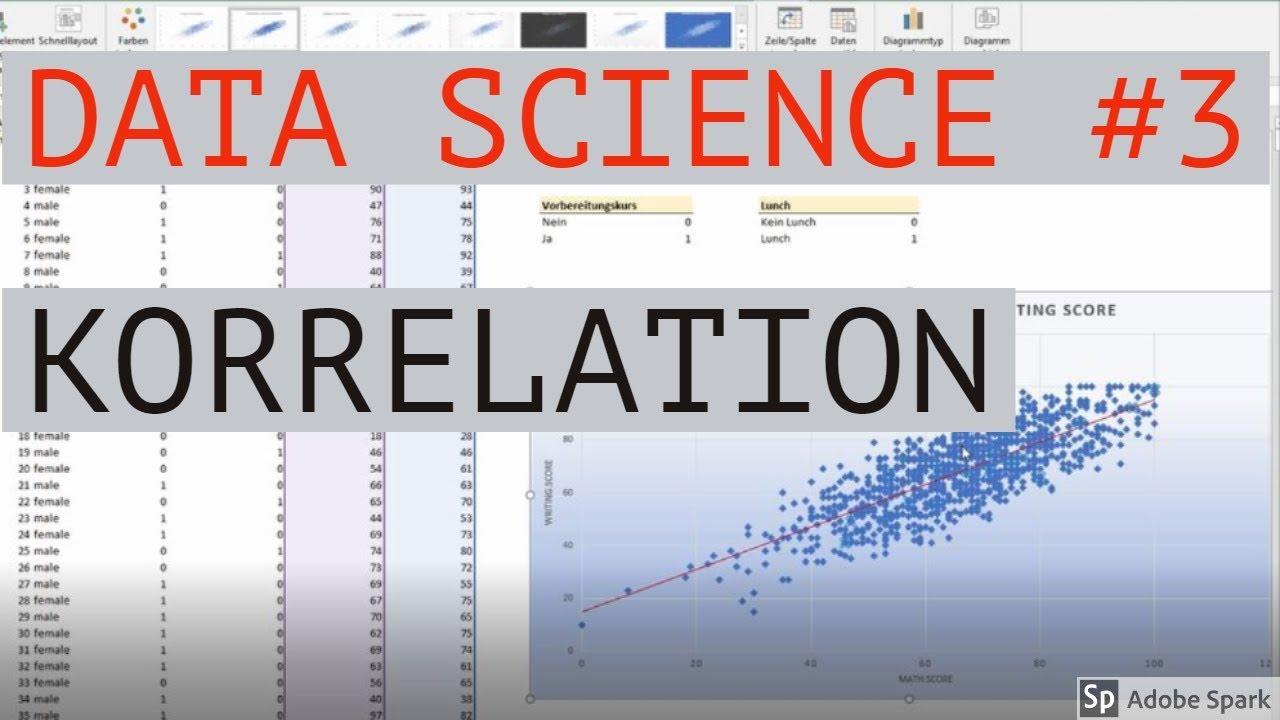 Korrelation berechnen - Data Science mit Excel #3