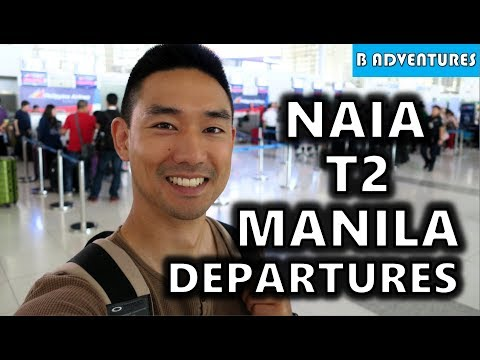 NAIA T2 Departures Improved? Manila Airport Philippines S4, Vlog 97
