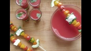 How To Make Refreshing Watermelon Gazpacho - Recipe